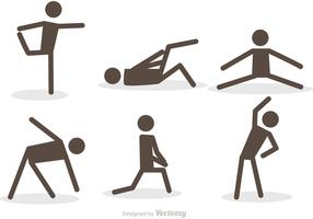 Workout Stick Figure Icons Vector Pack
