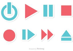 Media Player Button Vectors