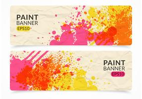 Free Paint Vector Banner Set