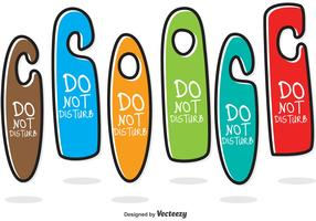 Colorful Do Not Disturb Hanger Vectors