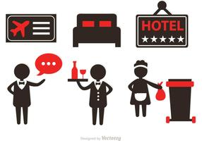Hotel Service Icons Vectors