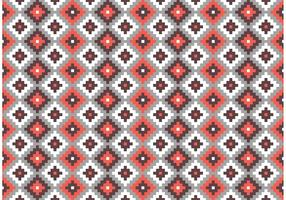 Aztec Mayan Primitive Bricks Pattern Vector