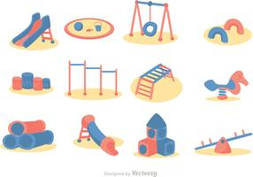 Cartoon Playground Icon Vector Pack