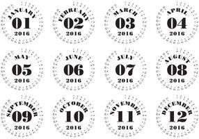 Typographic Calendar 2016