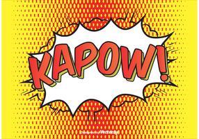 ¡Estilo cómico Kapow! Ilustración de fondo