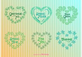 Nature Heart Wreaths Templates
