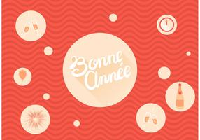 Bonne Annee Bubbly Free Vector