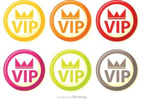 Colorful Circle Vip Icons Vector Pack