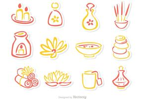 Beauty Treatment outline Icons Vector Pack