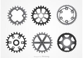 Metal Bike Sprockets Vectors