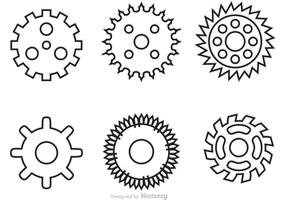 Bike Sprockets Outline Vectors