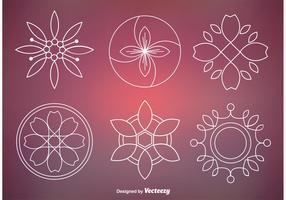 Abstract Floral Ornament Vectors