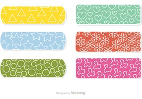 Kid Bandaid With Pattern Vectors