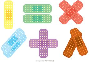 Colorful Kid Bandaids Vectors