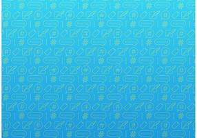 Hashtag Pattern Free Vector