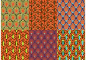 Retro Peacock Pattern Vectors