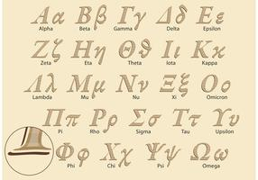 Classic Greek Alphabet Vector Pack