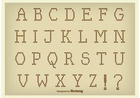 Vector Cross Stitch Style Alphabet