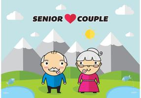 Senior Couple Vector Free