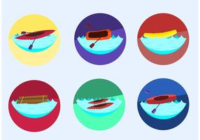 Crazy River Rafting Vectors