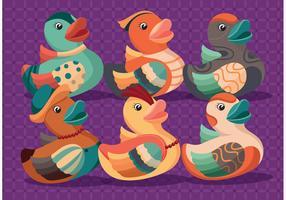 Colorful Rubber Duck Vectors