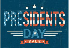 Free Presidents Day Sale Vector