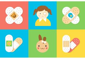 Free Kid Bandaid Vector Pack