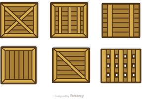 Wooden Containers And Crates Vectors
