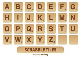 Scrabble Tile Vector Set