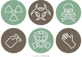Circular Danger Vector Icons