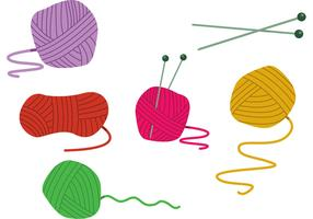 Cartoon Ball Of Yarn Vectors