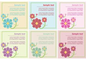 Floral Cross Stitch Vector Templates