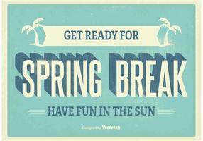 Vintage Spring Break Poster