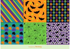 Free Vector Halloween Background Patterns