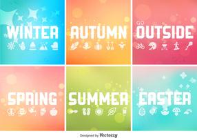 Vector Seasonal Backgrounds Collection
