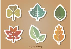 Flat Leaves Vector Icon Set
