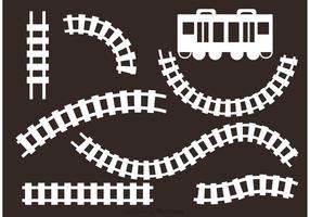 White Railroad Vectors