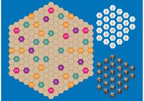 Hexagon Scrabble Vector