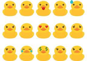 Pato de goma Vectores Emoticon