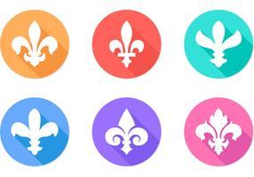 Fleur De Lis Flat Vector Icons