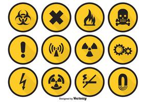Danger Vector Icon Set