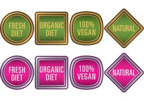 Natural Food Vector Badges