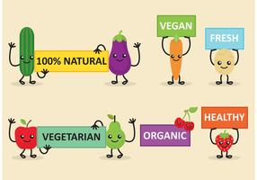 Veggie Friends Diet Banner Vectors