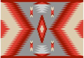 Antique Style Navajo Carpet Vector Pattern