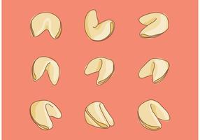 Hand Drawn Fortune Cookie Vectors