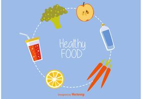 Healthy Food Vector Icons