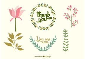 Wedding Floral Vector Decorations