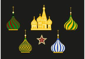 Russia Kremlin Vector Set