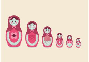 Russian Nesting Dolls Free Vector