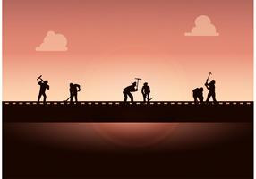 Working on the Railroad Free Vector Background
